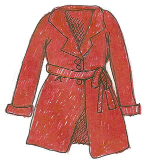 Red trench drawing
