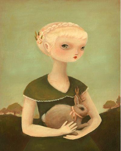 Portrait with Jackalope low