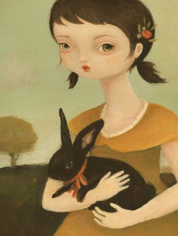 Portrait with Black Bunny low 2