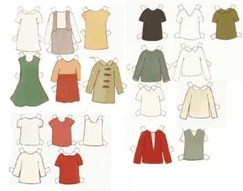 Doll blank clothes