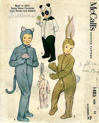 Good Vintage Halloween Costume Patterns. Bunny Costume Penguincostume