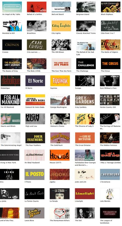 Criterion collage