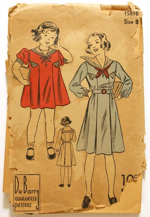 Sailor dress pattern
