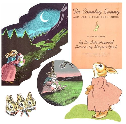 Country bunny collage