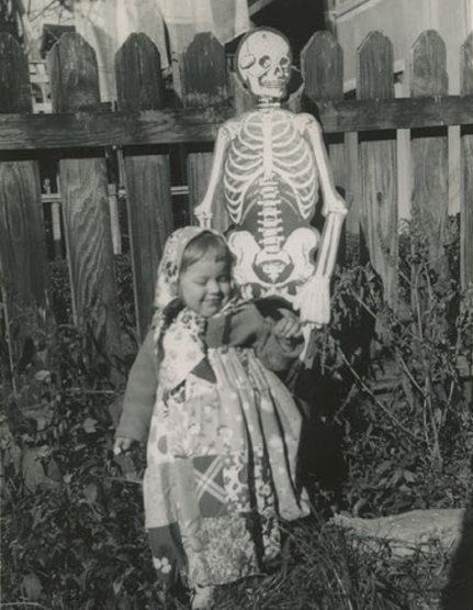 Girl and Skeleton